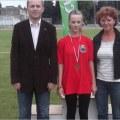 Podwójna Mistrzyni Woj.Podkarpackiego Dz.St. na 100 m i 300 m Izabella Jabłońska wraz z trenerką Marią Sugier